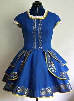 beast dress with circle skirt disneybound Kleid Schöne und das Biest / casual cosplay Kleid / Biest Kleid / Dapper Day disneybound Kleid / blau gold Blue Dresses, Casual Dresses, Casual Outfits, Cute Outfits, Dance Outfits, Disneybound Outfits, Disney Outfits, Belle Disneybound, Disney Fashion
