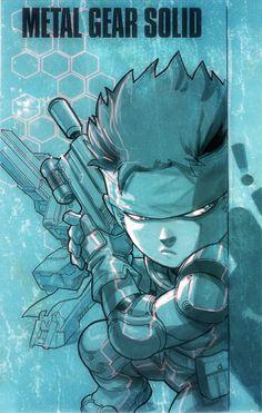 Metal Gear Solid artwork by Mia Cabrera Metal Gear Solid Ps1, Metal Gear Solid Series, Character Concept, Character Design, Chibi, Cyberpunk Games, Nerd, Snake Art, Gear Art