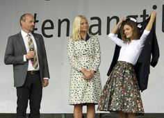 Crown Princess Mette Marit attended the festival to recycle in the city of Bergen. As part of the festival, Mette-Marit has donated some of her clothes.