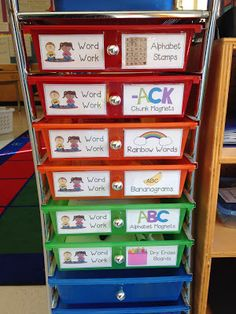 http://www.teacherspayteachers.com/Product/Word-Work-Centers-and-Storage-Labels-1002014