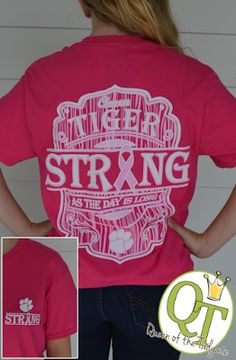 Clemson Girl - Win this #Clemson Tigers Strong breast cancer awareness t-shirt!