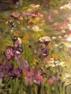 """dreaded iris"", original, oil on canvas, 18 X 24."