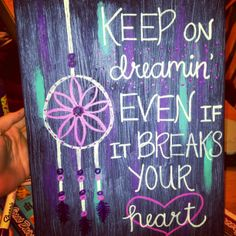 Canvas art. #dreamcatchers keep on dreamin'  @Abbey Adique-Alarcon Adique-Alarcon Adique-Alarcon Blackwell  make this! hahah
