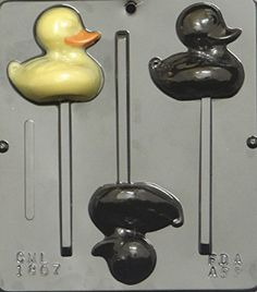 Duck Lollipop Or Rubber Ducky Chocolate Candy Mold Easter 1807