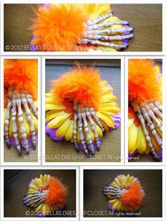 READY To Ship  Glam Skeleton Hand Hair Flower by BellaBooSmile, $11.06