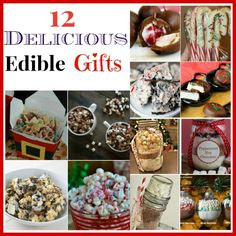 12 Delicious Homemade Edible Christmas Gifts- Homemade gifts don't just have to be DIY crafts! This year, give the gift of a delicious treat with these homemade edible Christmas gifts! Edible Christmas Gifts, Frugal Christmas, Edible Gifts, Christmas Sweets, Christmas Candy, Christmas Jewelry, Christmas Ideas, Diy Food Gifts, Homemade Gifts