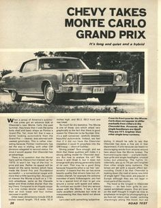 Caprice Classic, Chevrolet Monte Carlo, Old Ads, Grand Prix, Cool Cars, Dream Cars, Growing Up, Antique Cars, Classic Cars