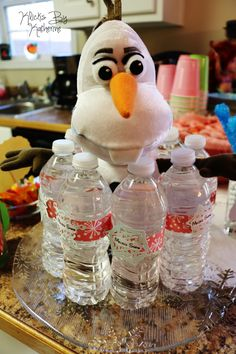 Disney Birthday Party ideas. DIY. Frozen melted snow