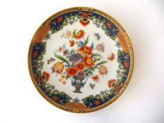 Porcelain Plate, Flowers, Golden Edges, Small Vintage Japan Plater