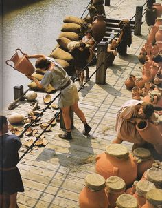 reconstruction of life working at a Roman port