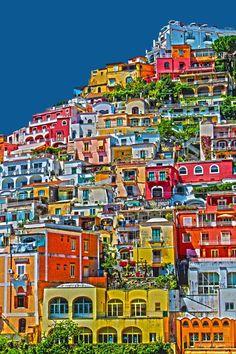 Positano, Amalfi Küste - Italien.  Den richtigen Reisebegleiter findet ihr bei uns: https://www.profibag.de/reisegepaeck/
