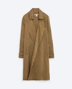 Khaki Trenchcoat, Khaki Coat, Duster Jacket, Weekly Outfits, Minimalist Fashion, Mantel, Casual, Polyvore, How To Wear
