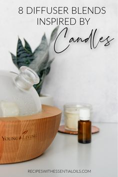 8 Diffuser Blends Inspired by Candle Scents - Recipes with Essential Oils Essential Oils For Kids, Essential Oils Cleaning, Young Living Essential Oils, Essential Oil Candles, Essential Oil Diffuser Blends, Diffuser Recipes, Inspired, Fragrances, Candle Making