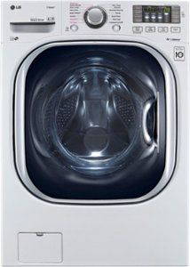 White With Steam Cycle Electric Washer/Dryer Combo - Dryers Product Features 14 Wash Cycles Steam Technology RPM Spin Speed Ventless Condensing Drying Dryers Product Description Cu. White With Steam Cycle Electric Washer/Dryer Combo Lg Washer And Dryer, Stainless Steel Drum, Lg Electronics, Front Load Washer, Laundry Room Storage, Laundry Closet, Laundry Rooms, Energy Star, Industrial Design