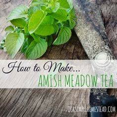 The smell and the taste of Amish Meadow Tea still puts a smile on my face. It's all natural, has no caffeine and is the perfect drink any time of the year.