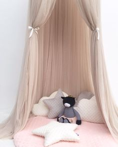 Qualified Blue Upgraded Childrens Mosquito Net Star Dreamy Fantasy Star Hanging Lace Dome Round Canopy Mosquito Net Bedroom Bed Curtain Baby Bedding
