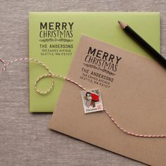 Merry Christmas - Address Stamp