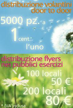 Il tuo volantinaggio a prezzi mai visti! www.studiozeronegativo.com