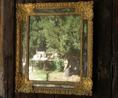 Beautiful mirror in #giltwood with #mirroded #panels. #18th century. For sale on Proantic by Galerie Saintes Scarbes.