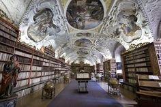 The stunning Strahov Library in Prague - By Jorge Royan Aachen Cathedral, Cathedral Basilica, World's Most Beautiful, Beautiful Places, University In England, Meeting Hall, Beautiful Library, Germany Castles, Sistine Chapel