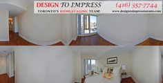Staging before and after pics from Downtown Toronto condo, staged to sell for a high ROI, via Toronto's home staging company, Design to Impress!