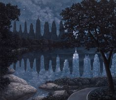 When the Lights Were Out - Rob Gonsalves - Marcus Ashley Gallery