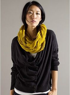 Love this pop of mustard #fallingforfall eileen fisher #efgiveaway