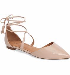 Nordstrom Halogen® Oliver Ankle Wrap Flat (Women)