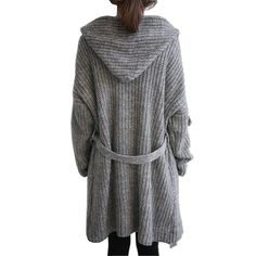 Women Outerwear Coats Knitted Sweater Long Cardigan Jacket Coat Wool Blend Autumn Shrug Cloak Overcoat Knitting Cape Poncho