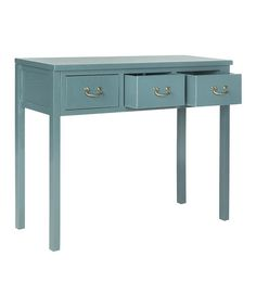 Love this Teal Yannick Console on #zulily! #zulilyfinds