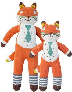 Blabla dolls : Socks the fox, 100% cotton handmade in Peru