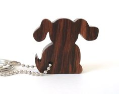 Dog Key Chain Wood Scroll Saw Outline by OohLookItsARabbit on Etsy