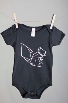 Origami Squirrel, Squirrel Shirt, Toddler tee, Trendy kids clothes, Hipster kids clothes, Child shirt, Screen Printed Shirts, Graphic Tee
