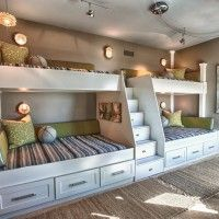 Extraordinary Wooden Bunk Beds Features Brown Mattress Bunk Bed And Whiate Rug Plus Small Black Chairs Furniture. Built In Bunk Beds Ideas Plants For Kids. Alocazia Awesome Home Design Ideas Bunk Beds Built In, Modern Bunk Beds, Bunk Beds With Stairs, Kids Bunk Beds, Loft Beds, Double Bunk Beds, Bunk Beds For Adults, Four Bunk Beds, Corner Bunk Beds
