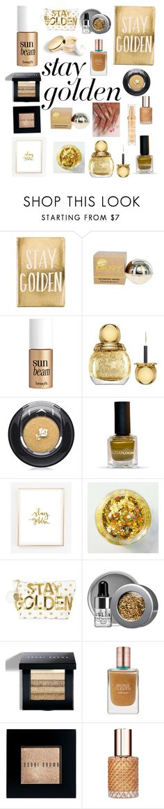 """""""Stay gold Pony Boy"""" by bellestar7 ❤ liked on Polyvore featuring beauty, Eccolo, Benefit, Christian Dior, Lancôme, Bow & Drape, Stila, Bobbi Brown Cosmetics, Estée Lauder and Show Beauty"""