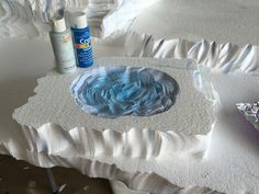Image result for how to make a frozen pond for christmas village