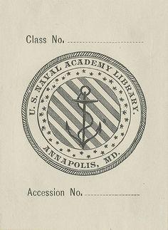 [Bookplate of the U.S. Naval Academy Library] by Pratt Libraries, via Flickr