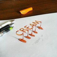 caligrafía en 3D que sobresale del papel tolga girgin