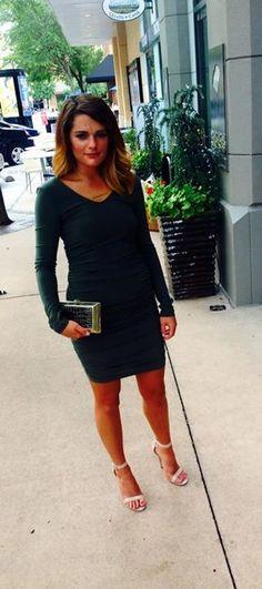 Hannah at @abiferrininc in Dallas in the Runway East/West necklace.  #jewelry #necklace #runway #travel #bar #dalas #janesko