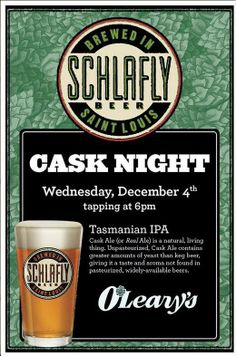 Tonight at O' Leary's Restaurant in #STL: @Schlafly Beer #Tasmanian IPA.