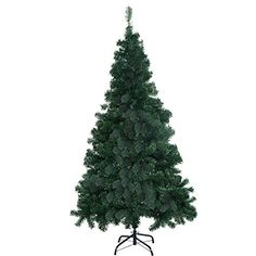 Goplus 7 Artificial Christmas Tree Spruce Hinged w Metal Stand for Indoor and Outdoor Green -- Check out this great product. (This is an affiliate link)