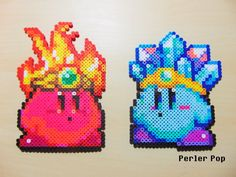 Fire and Ice Kirby Perler beads by Perler-Pop