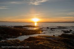 Beautiful Sunset at Clover Point, Victoria, B.C.  AperturePerception.com