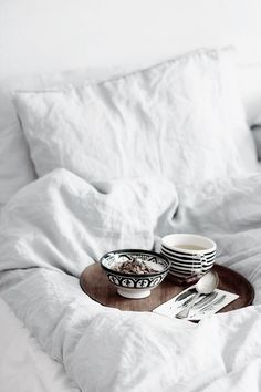 breakfast in bed - - beautiful food presentation for every meal calms the soul