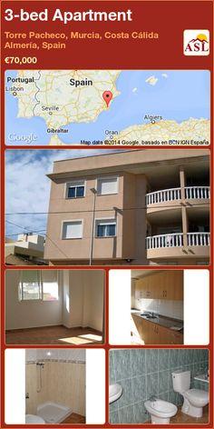 3-bed Apartment in Torre Pacheco, Murcia, Costa Cálida Almería, Spain ►€70,000 #PropertyForSaleInSpain