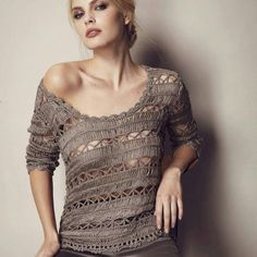 Nice hairpinlace sweater..not for cold climates ;-)