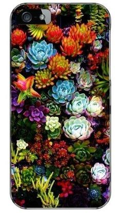 Custom Succulent Cluster Galaxy S3 or S4  IPhone 4 or 5 Cell Case Cover