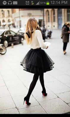 Falda de tul.