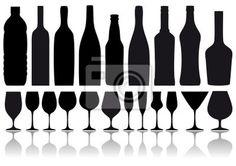 Vinilo para Paredes robots de vino y vasos, vector - diseño • PIXERS.es