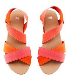 H sandals orange